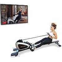 FITNESS REALITY - Máquina de remo magnética 1000 PLUS con bluetooth, con ejercicios extendidos de cuerpo completo opcionales y aplicación gratuita