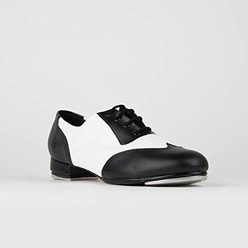 So Danca Steppschuhe Oxford, Kunstleder, Ledersohle, Weite M Black/White