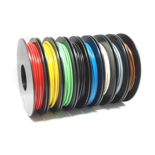 Litzen-Sortiment, 0,50 mm², 8x 10 m Schaltlitzen auf Kunststoffspulen, 8 Farben -