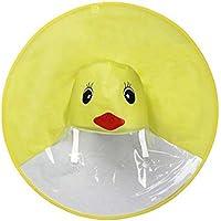 Yogogo Enfant Manteau ImperméAble LéGer Ponchos De Pluie avec Capuche,Manteau De Pluie Mignon UFO Enfants Parapluie Chapeau pour ExtéRieur PêChe Golf Enfants