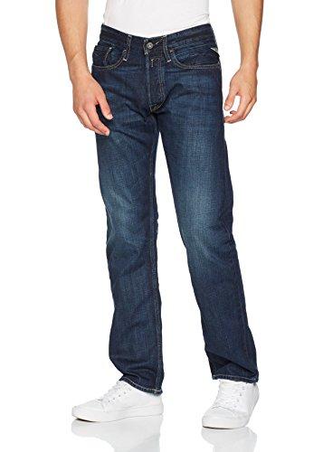 Replay Herren Straight Leg Jeanshose NEWBILL, Blau (Blue Denim 7), W33/L32