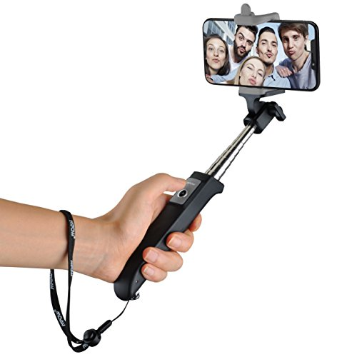 Selfie Stick, Mpow Extendable Bluetooth Selfie Stick Monopod With Built-in Remote Control Wireless Shutter for Travels, Family Entertainment, Friends photos-Compatible With iPhone X/8/7/6s/6s Plus/5/5c, Sumsang, LG, Huawei and Other Android Cell Phones, Black