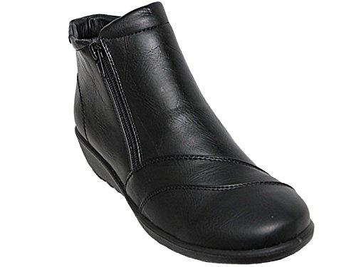 Cushion Walk , Bottes Chelsea femme Black/Faux Leather