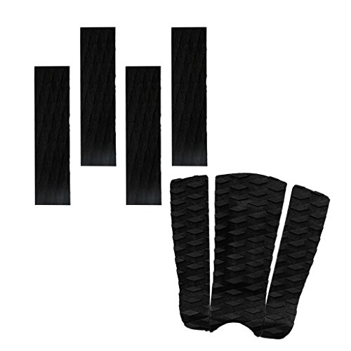 MagiDeal 7pcs-Set Surfboard Traction Pad Anti-Rutsch Footpad - Schwarz