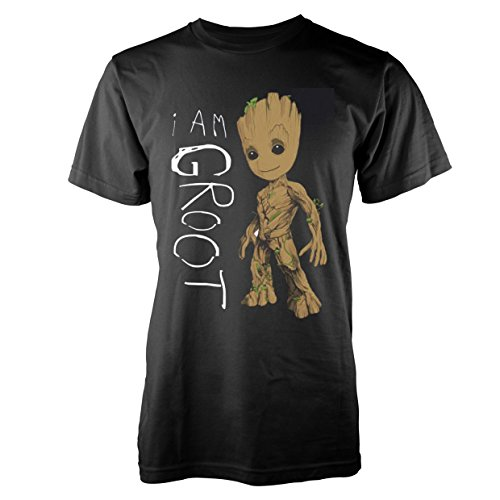 MARVEL GUARDIANS OF THE GALAXY VOL 2 I AM GROOT SCRIBBLES TS (Nova Shirt Marvel)
