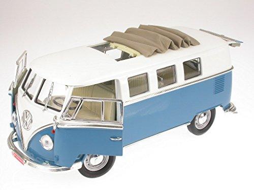 VW T1 Bus Bulli Samba Van blau Modellauto Yatming 1:18