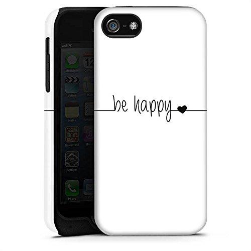 Apple iPhone X Silikon Hülle Case Schutzhülle Happy Glück Spruch Tough Case matt