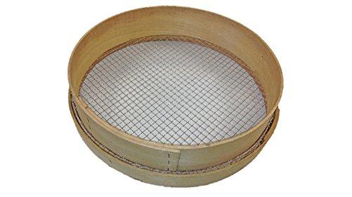 Greenkey 759 10 mm, traditionelles Maschen Gartensieb aus Holz