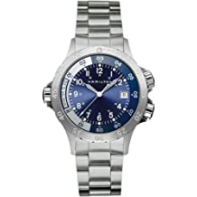 Hamilton H74541143 - Reloj analógico de caballero de cuarzo con correa de acero inoxidable plateada - sumergible a 150 metros