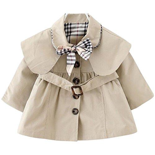 ARAUS-Baby Mädchen Mäntel Frühling Herbst mädchen Jacken Baby Trenchcoat Kinderjacke Kinder Trenchcoat