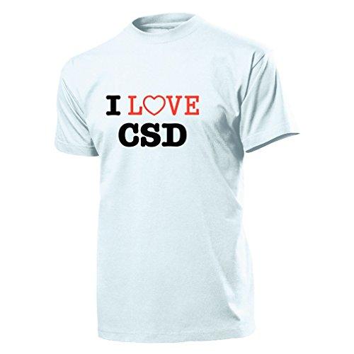 I Love CSD Christopher Street Day Schwule und Lesben Homo - T Shirt #904, Größe:Herren XXL, Farbe:Weiß (Lesben T-shirt Designs)
