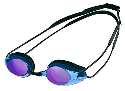 arena Tracks Mirror Gafas de Natación, Unisex Adulto, Negro (Black / Blue), Única