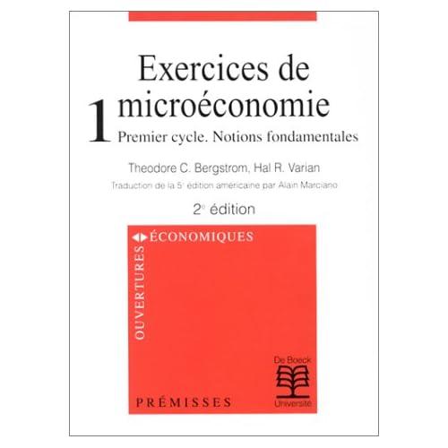 Exos microéconomie, tome1