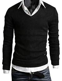 Maglioni di Maglia Moda Uomo Slim Top Maglione Ragazzo Fit Pullover Manica  Lunga 542147fcca5c