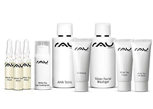 Bha Feuchtigkeitscreme (RAU Cosmetics Schnupper-Set - White Tea - Pröbchenmix zum Reinschnuppern - Produktproben, Travel Size, Mini Set)