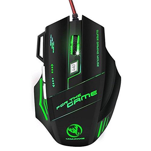 Bescita Maus, MOYUKAXIE S300 Optische Professionelle Gaming-Maus mit 7 Hellen Farben LED Hintergrundbeleuchtung Maus S300 Usb
