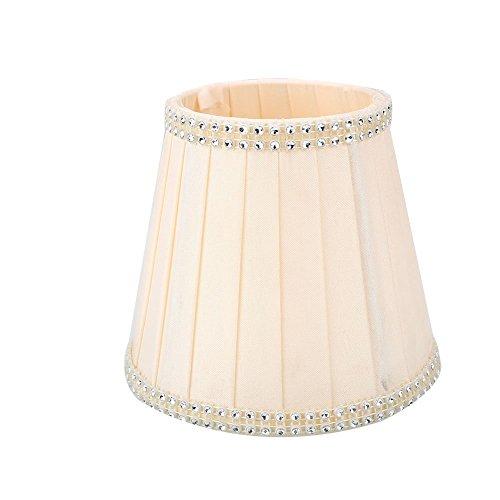 Gladle Europäischer Weinlese-Art-Lampen-Schatten Für Wandleuchter-Kronleuchter-Kerze-Kristalllampe (Rosa)