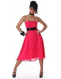 Jela London Chiffon Cocktailkleid Pink L/38 (201357)