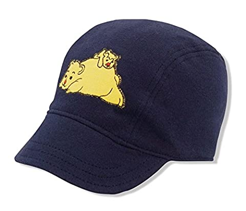 Baby Infant Cargo Baseball Cap Hat, Keepersheep Baby Cap Hat with Embroidery, 100% Cotton Knitted Fabric (6-12 months, Navy Blue)