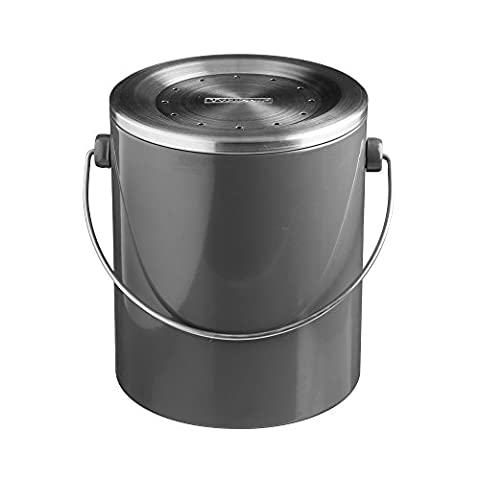Typhoon Hudson de compost pour cuisine, Acier