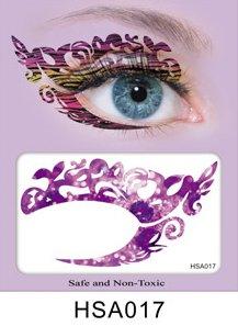 Party Augen Makeup Tattoo Spitze Aufkleber Halloween -HSA017 -