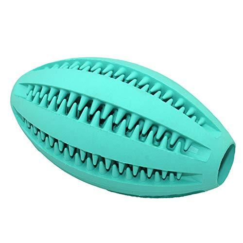 mAjglgE Rugbyball für Hunde und Katzen, Gummi, zum Kauen von Zähnen und Zahnreinigung
