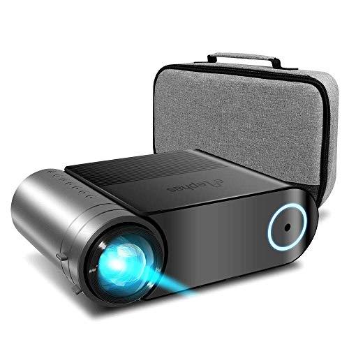 "Mini Beamer ELEPHAS, Nativ 720P HD 4000 Lumen Projektor 200\"" LED Projektor, für Film Unterhaltung Spiele, unterstützt HDMI VGA AV USB Micro SD, Schwarz. MEHRWEG"