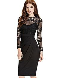 ZARINA®Vestido Plisado de Mujer/Vestido de Novia Modelo 9330 Color Negro