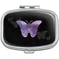 Violett Schmetterling Watercolor Silhouette Rechteck Pille Fall Schmuckkästchen Geschenk-Box preisvergleich bei billige-tabletten.eu