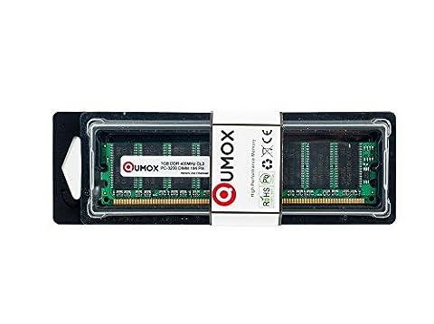 QUMOX 1Go DDR DIMM (184 PIN) 400Mhz PC3200 DESKTOP Mémoire