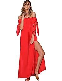 Beikoard Vestito Donna Elegante Abbigliamento Vestito Donna Maxi Abito  Lungo da Sera da Sera con Fiocco c4c1c394b63