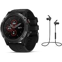 Garmin GPS-Multisport-Smartwatch Fenix 5X Plus Saphir - GPS - Gehäue: 51mm Schwarz/Armband schwarz - inkl. Bluetooth Headset