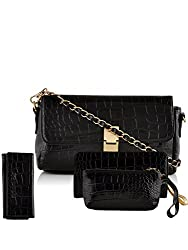 Mark & Keith Women Black Handbag(MBG 0303 BK)