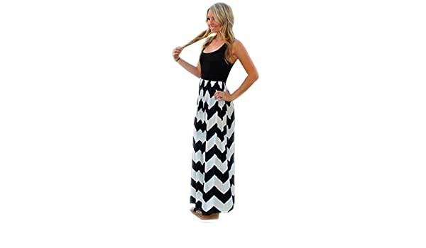 595e2325eb36 Bohemian Scoop Neck Sleeveless Wavy dress  Amazon.in  Clothing   Accessories