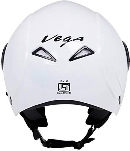899a60de Vega Verve Open Face Helmet (White, M) - Couponsdad