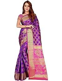 5884424ca4 Store Beautiful Kanjivaram Silk Patola Saree with Blouse Piece For Women