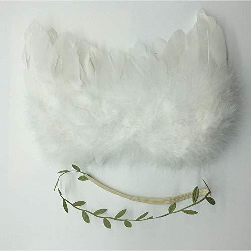 Geggur Baby Newborn Engel Flügel Angel Feder Mit Blume Haar Band Baby Foto Shooting Kostüm