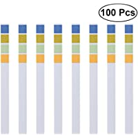 UEETEK 100 pcs 0-14 PH Test Strips,4 Colour Recognition with Large Measuring Range 0 – 14 Quick and precise Liquid Measure PH