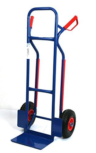 Sackkarre, Gleitkufen 250 kg 111x50x53 cm, blau (Transportkarre Stapelkarre Handkarre)