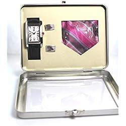 Time Design Gents Roman Numeral Watch, Tie & Cufflinks Gift Set TDX5486G38