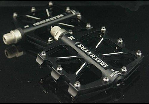 upanbike 4versiegelte Kugellager Pedale für Mountain Bike Road Fahrrad Aluminium flach Plattform, schwarz