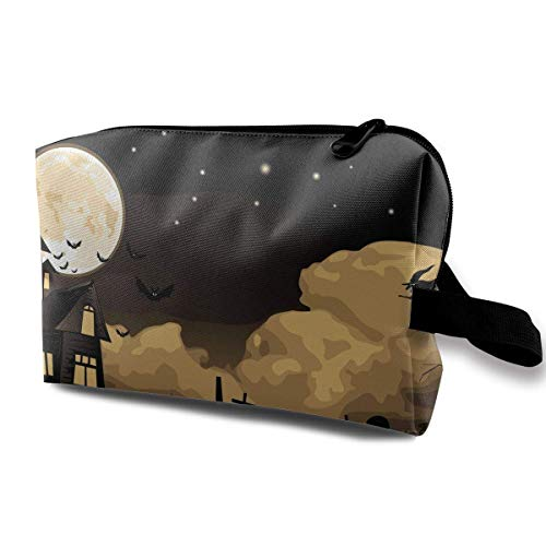 n Hexen Halloween Travel Portable Make-up Tasche Zipper Wallet Hangbag ()