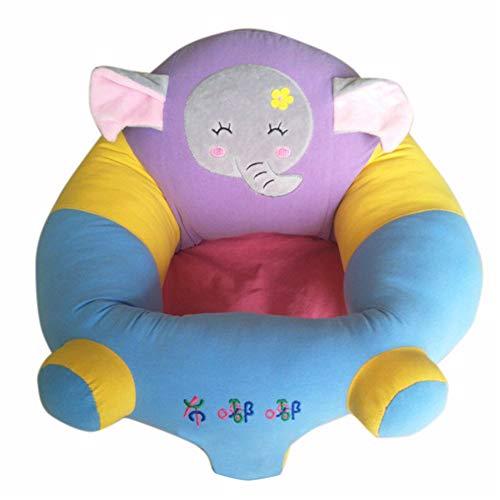 Yeying123 Coussin de bébé siège de Soutien en Peluche bébé Doux Sofa Nourrisson bébé apprenant à siéger Chaise siège Dinant Chaise Coussin,Elephant,M
