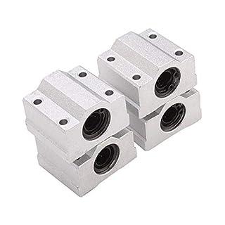 LEORX Lineartechnik Kugellager CNC Folie Buchse 4pcs(Silber)