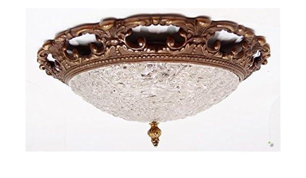 Plafoniere Per Auto A Led : Deckenlampe plafoniere jugendstil cm messing bronze kristall