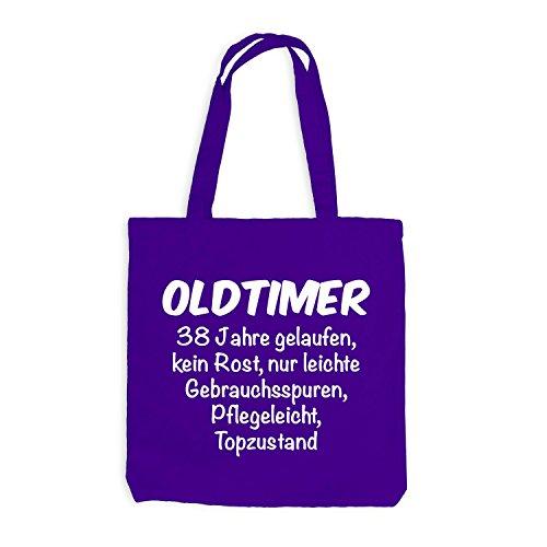 Jutebeutel - Oldtimer Geburtstag 38 Jahre - Birthday 38 Years Fun Geschenkidee Violett
