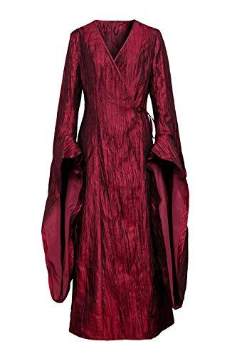 Melisandre Kostüm Halloween - NUWIND Mittelalter Viktorianische Königin Deluxe Kostüm Melisandre Kostüm Halloween Cosplay Party Kostüme Outfits Gr. L, rot