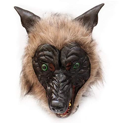 QIONGQIONG Halloween Maske Wolf Kostüm Kopf Maske Party Maske Fun Latex Tier Kopf Maske