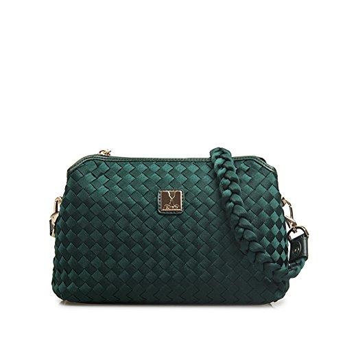 Retro borsa di modo tessuta/Spalla borsa Messenger-B D