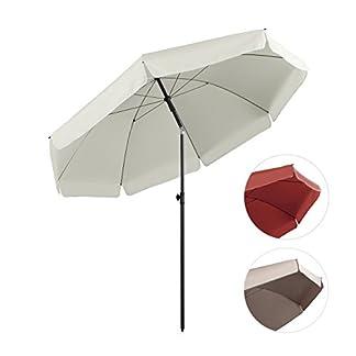 Sekey® Ombrellone Ø 240 cm Tondo Ombrello Parasole da Esterno da Giardino da Spiaggia Protezione Solare UV25+